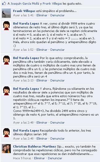 Respuestas a través de Facebook