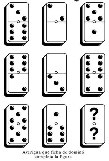 Encuentra la ficha que falta mates y for Fichas de domino