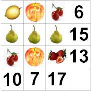 Tablero de frutas