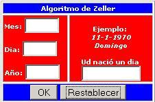 Algoritmo de Zeller