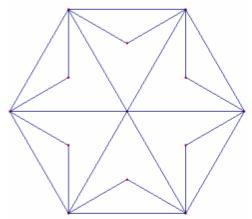 Diana hexagonal