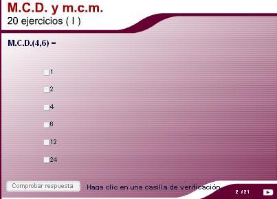 M.C.D. y m.c.m. 20 ejercicios