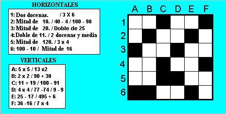 Crucigrama numérico 1