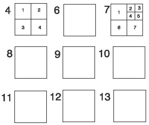 Muchos cuadrados