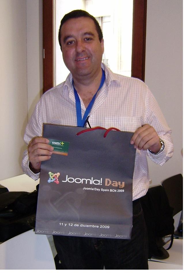 Rai el día 11 de diciembre de 2009 en Joomla!Day
