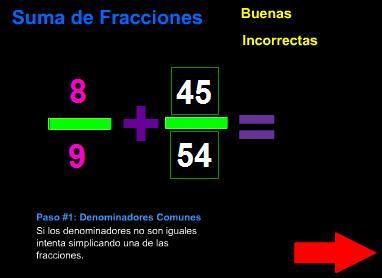 Suma fracciones