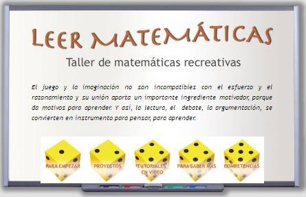 Leer matemáticas. Taller de matemáticas recreativas
