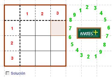 Crucigrama numérico (con GeoGebra)