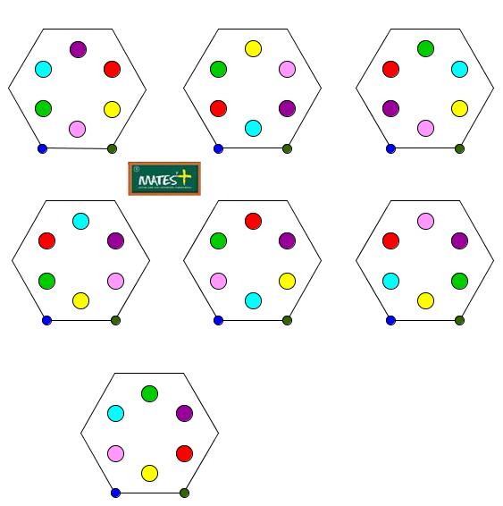 Juego de los 7 hexágonos regulares (con GeoGebra)