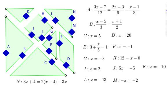 Matgram de ecuaciones de primer grado