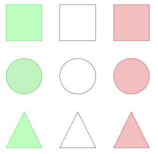 Nueve piezas