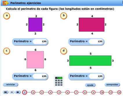 Cálculo de perímetros