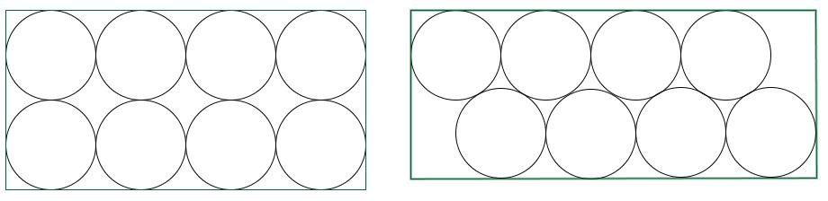 Circunferencias y rectángulos