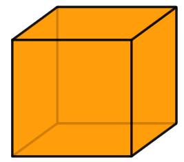 Un cubo y muchos triángulos
