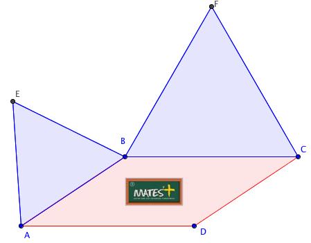 Paralelogramo y triángulos