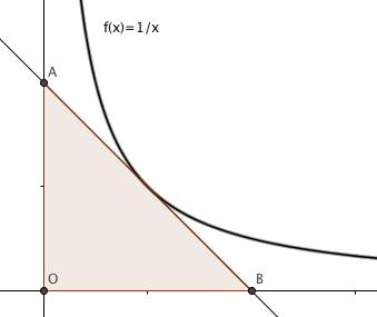 El triángulo y la hipérbola